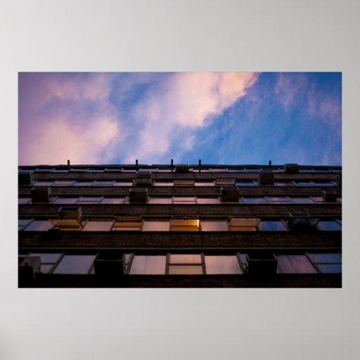 Urban Sky and Building Photograph Print