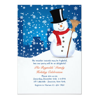 Urban Snowman Invitation