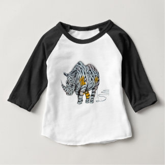 Urban Street Art: Ribbon Rhinoceros Baby T-Shirt