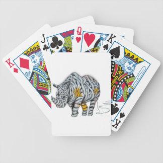 Urban Street Art: Ribbon Rhinoceros Bicycle Playing Cards