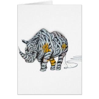 Urban Street Art: Ribbon Rhinoceros Card