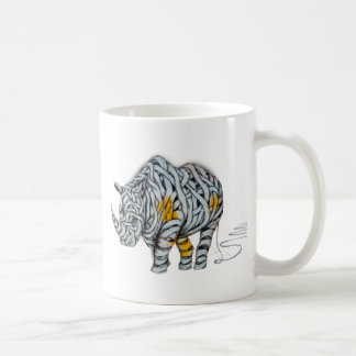 Urban Street Art: Ribbon Rhinoceros Coffee Mug