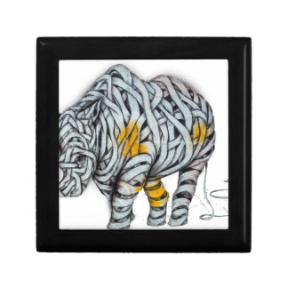 Urban Street Art: Ribbon Rhinoceros Gift Box
