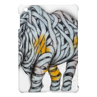 Urban Street Art: Ribbon Rhinoceros iPad Mini Covers