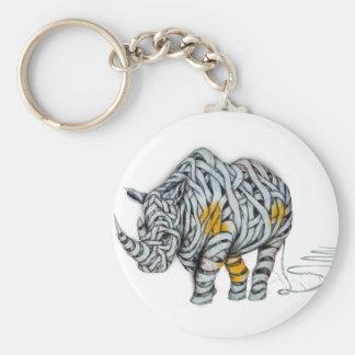 Urban Street Art: Ribbon Rhinoceros Keychain