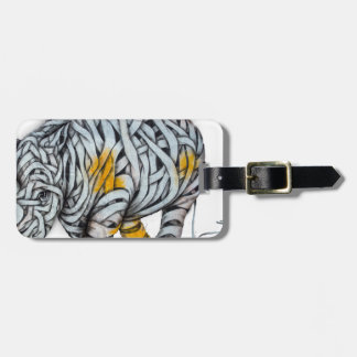 Urban Street Art: Ribbon Rhinoceros Luggage Tag
