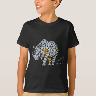 Urban Street Art: Ribbon Rhinoceros T-Shirt