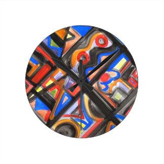 Urban Street One-Abstract Art Geometric Clock