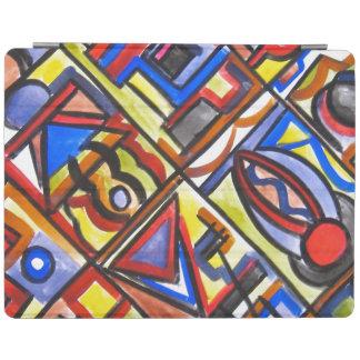 Urban Street Two-Abstract Art Geometric iPad Cover