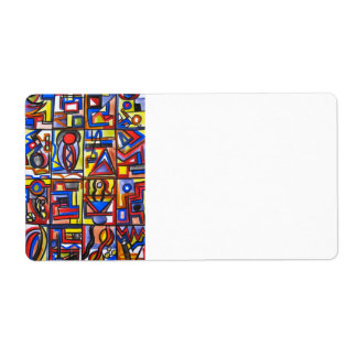Urban Street Two - Abstract Art Shipping Label