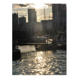 Urban Sunset Postcard