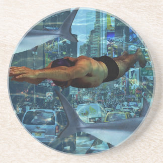 Urban swimmers beverage coasters