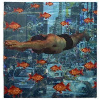 Urban swimmers napkin