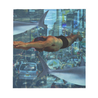 Urban swimmers notepad