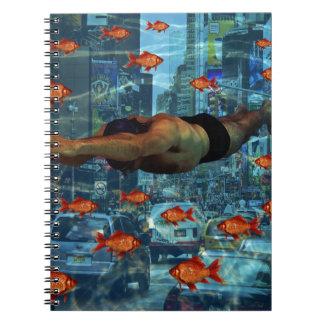 Urban swimmers spiral notebooks