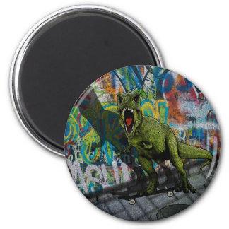 Urban T-Rex 2 Inch Round Magnet