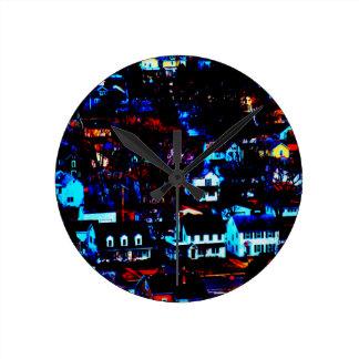 Urban Town Round Clock