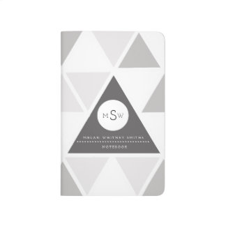 Urban Triangle | Custom Monogram Journal