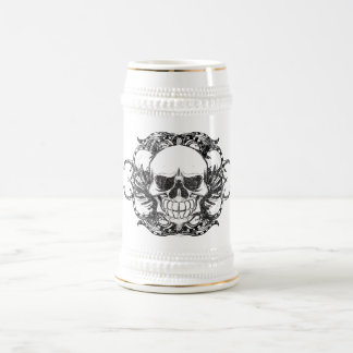 Urban tribal skull beer stein