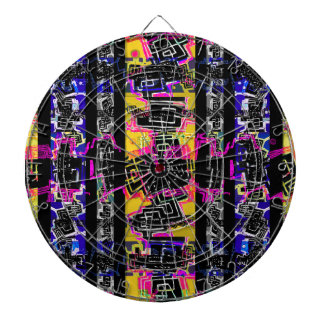 Urban Tribal Stripes Dartboard With Darts
