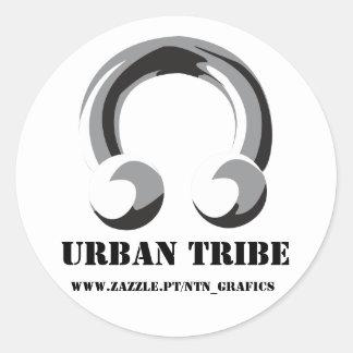 urban tribe to stiker round sticker