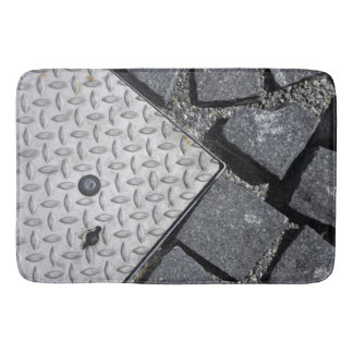 Urban Vibe – Steel Road  - Black & White Bath Mat