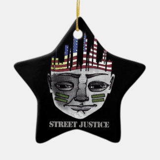 Urban Warrior *Personalized* by Street Justice Ceramic Star Ornament