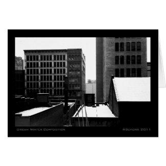 Urban Winter Composition Card