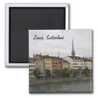 Urban Zurich Switzerland City View Photo Square Magnet