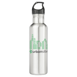 UrbanSitter Water Bottle (24 oz), Stainless Steel