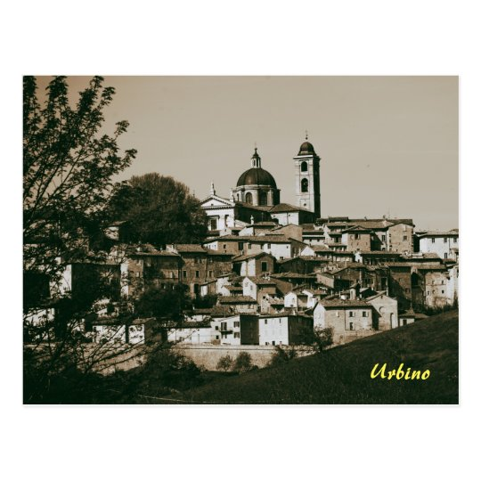 Urbino is a walled city in the Marche region of It Postcard