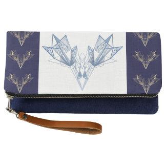UrbnCape Geometric Blue Protea designer clutch