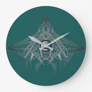 UrbnCape Geometric Fog Designer Branded Clock
