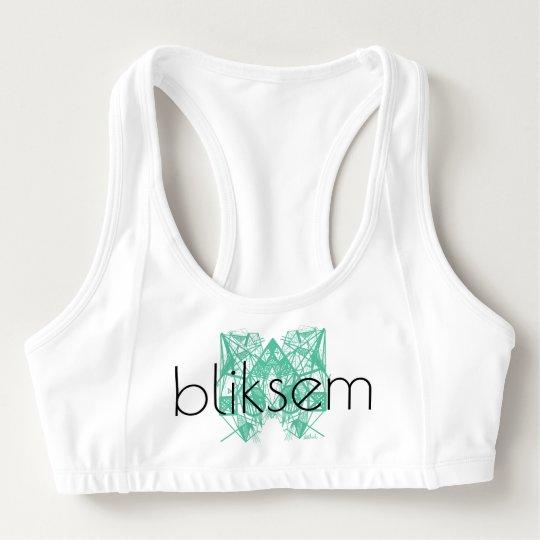 """UrbnCape Geometric green """"Bliksem"""" sports bra"""