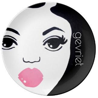 "UrbnCape ""Gevriet"" Geisha deco porcelain plate"