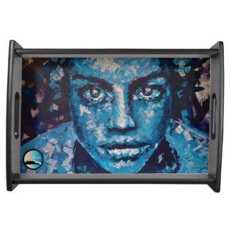 "UrbnCape ""Jean"" Art Print collector's serving tray"