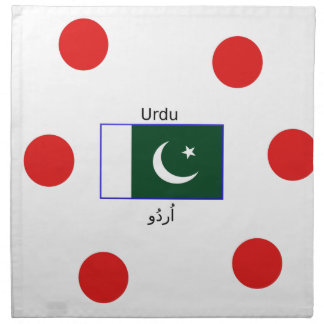 Urdu Language And Pakistan Flag Design Napkin