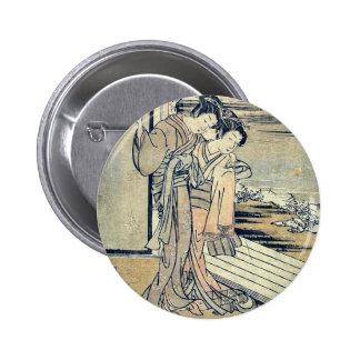 Ureshino of the house of Ogiya by Isoda,Koryusai Button