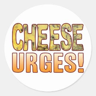 Urges Blue Cheese Round Sticker