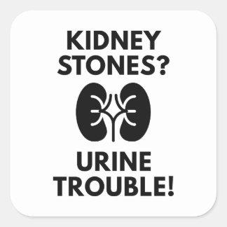 Urine Trouble Square Sticker