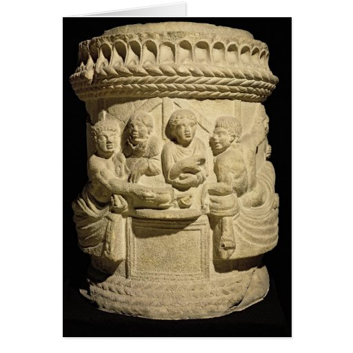 Urn depicting a family meal, from Aquileia Card