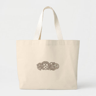 Urnes Snake Extended Stomach Retro Large Tote Bag