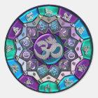 UROCK  Independence Mandala ~ BTC Classic Round Sticker