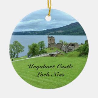 Urquhart Castle Loch Ness Scotland Landscape Photo Ceramic Ornament