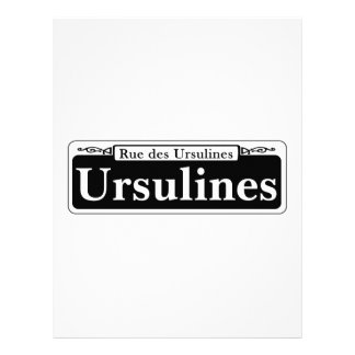 Ursulines St., New Orleans Street Sign Customized Letterhead