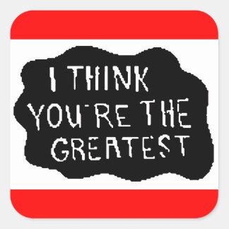 urthegreatest square sticker