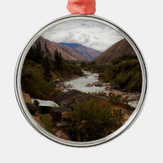 Urubamba Sacred River Valley Cusco Peru Metal Ornament