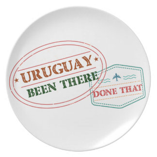 Uruguay Been There Done That Plate