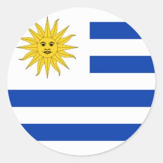 Uruguay Flag Classic Round Sticker