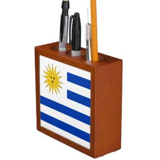 Uruguay Flag Desk Organizer